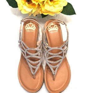 Fergalicious Shoes - 🌸Fergalicious Jeweled Sandal, Blush Pink (New)
